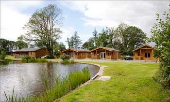 The lakeside lodges at Bron Eifion