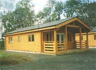 A close up view of one of our lodges