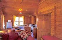 Our lodges all feature warm, comfortable interiors