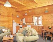A view of the living area in one of the lodges